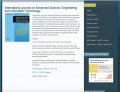 International Journal on Advanced Science Engineering Information Technology 1